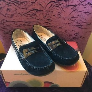 UMI LEATHER LOAFERS BLACK SHOES